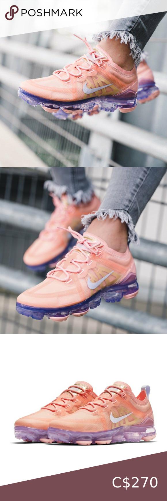 NWT Nike Air VaporMax Coral/Purple 2019 Sneaker in 2020