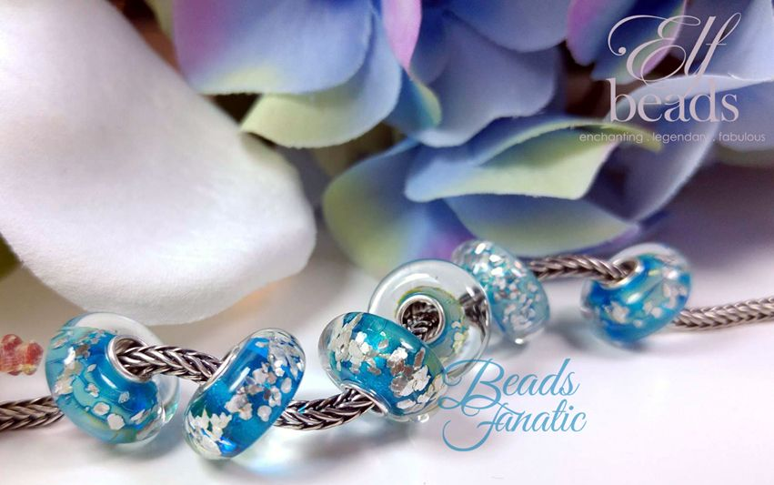 Elfbeads Ice Silver Flakes - Kaleidoscope Collection