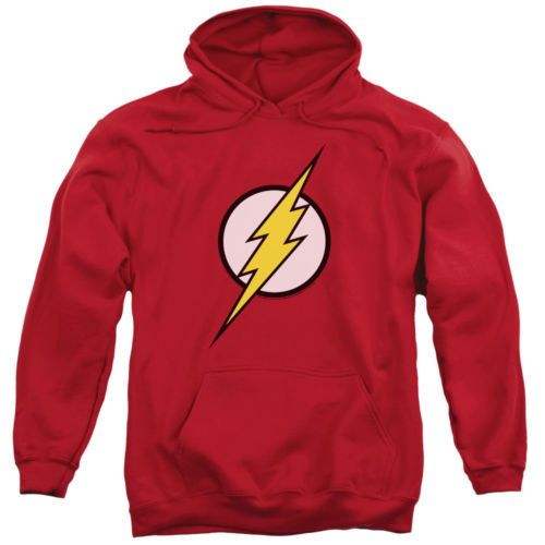 Sweatshirts and Hoodies 155200: Justice League Flash Logo Pullover Hoodies For Men Or Kids -> BUY IT NOW ONLY: $30.22 on eBay!