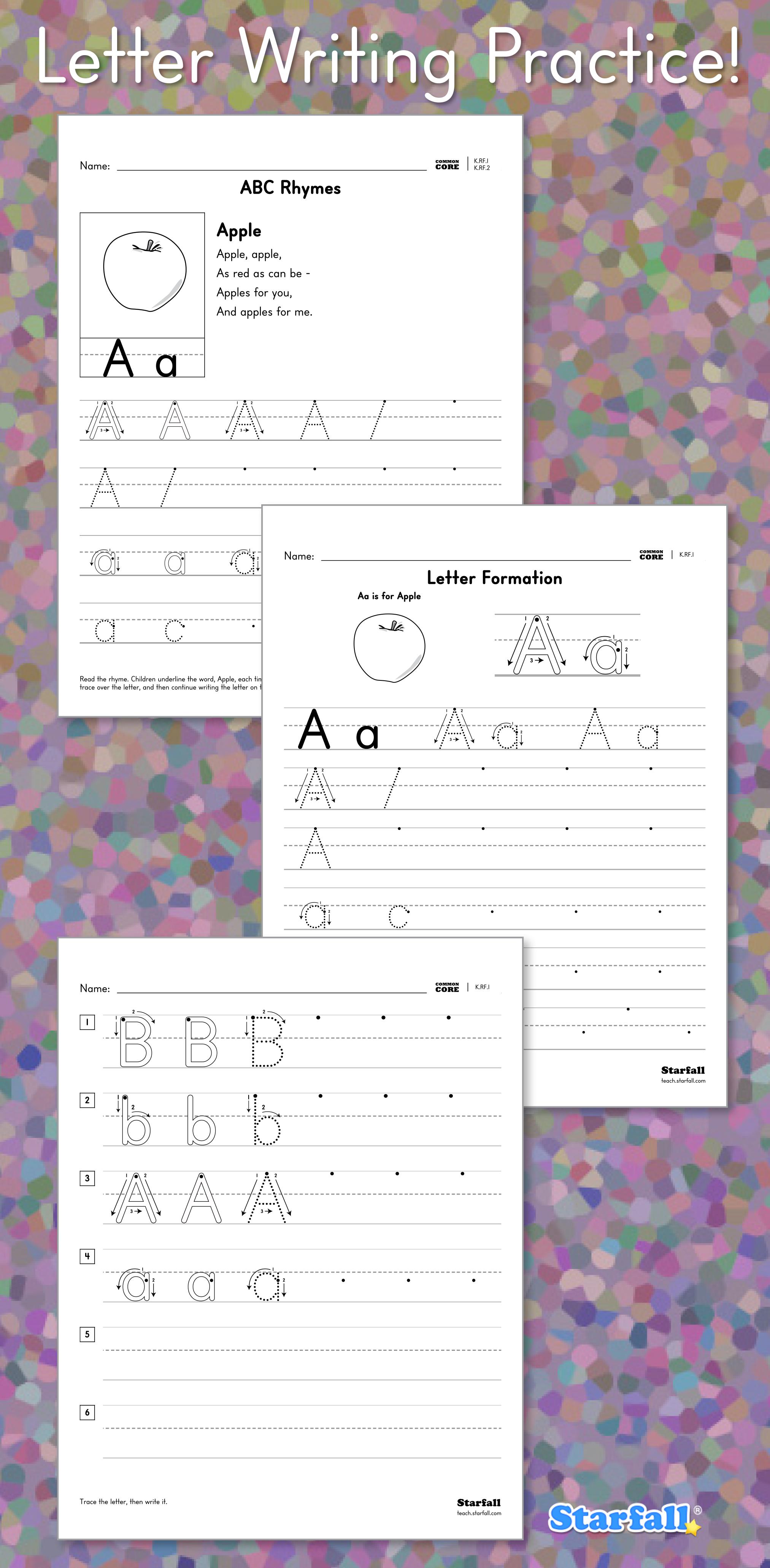 Free Customizable Worksheets From Starfall So Children