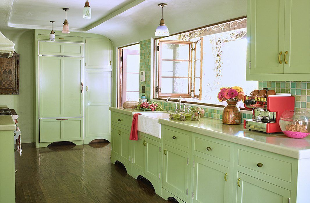 8 Green Color Inspirations For Home Interior Design Matchness Com Green Kitchen Cabinets Shabby Chic Kitchen Mint Green Kitchen