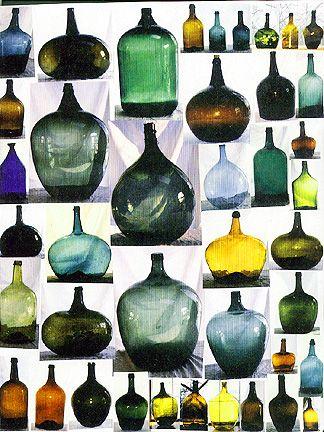 Demijohns Antique Gl Bottles