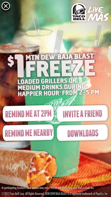 Taco Bell Flaunts Happier Hour Campaign Through Interactive Iad