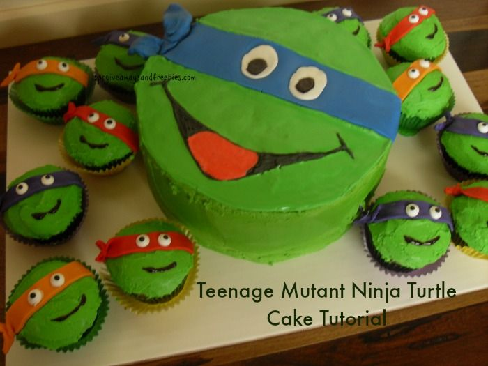 Teenage Mutant Ninja Turtle Cake Cake tutorial Ninja turtles and