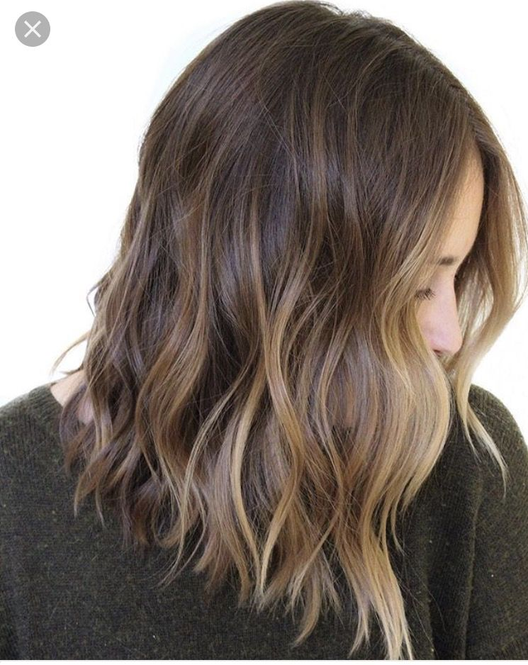 I Like The Lighter In Front Brown Hair Balayage Hair Styles Hair Lengths