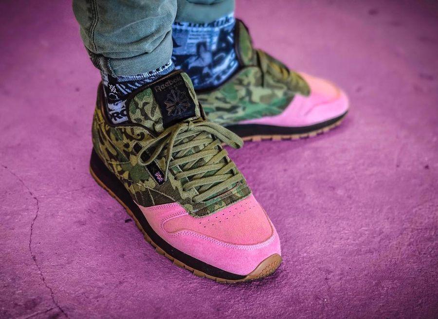 e26f1fd9b6b1 Reebok  Classic  Leather  Flamingo at  War   Clothing Footwear ...