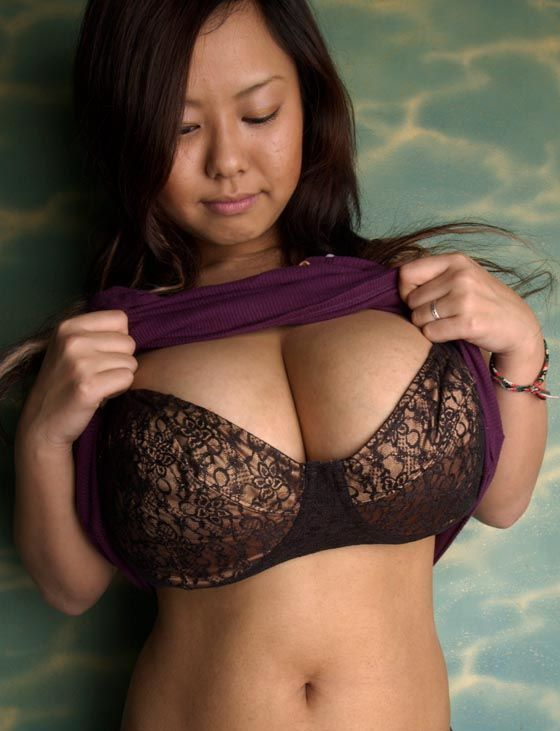 Busty asian alone