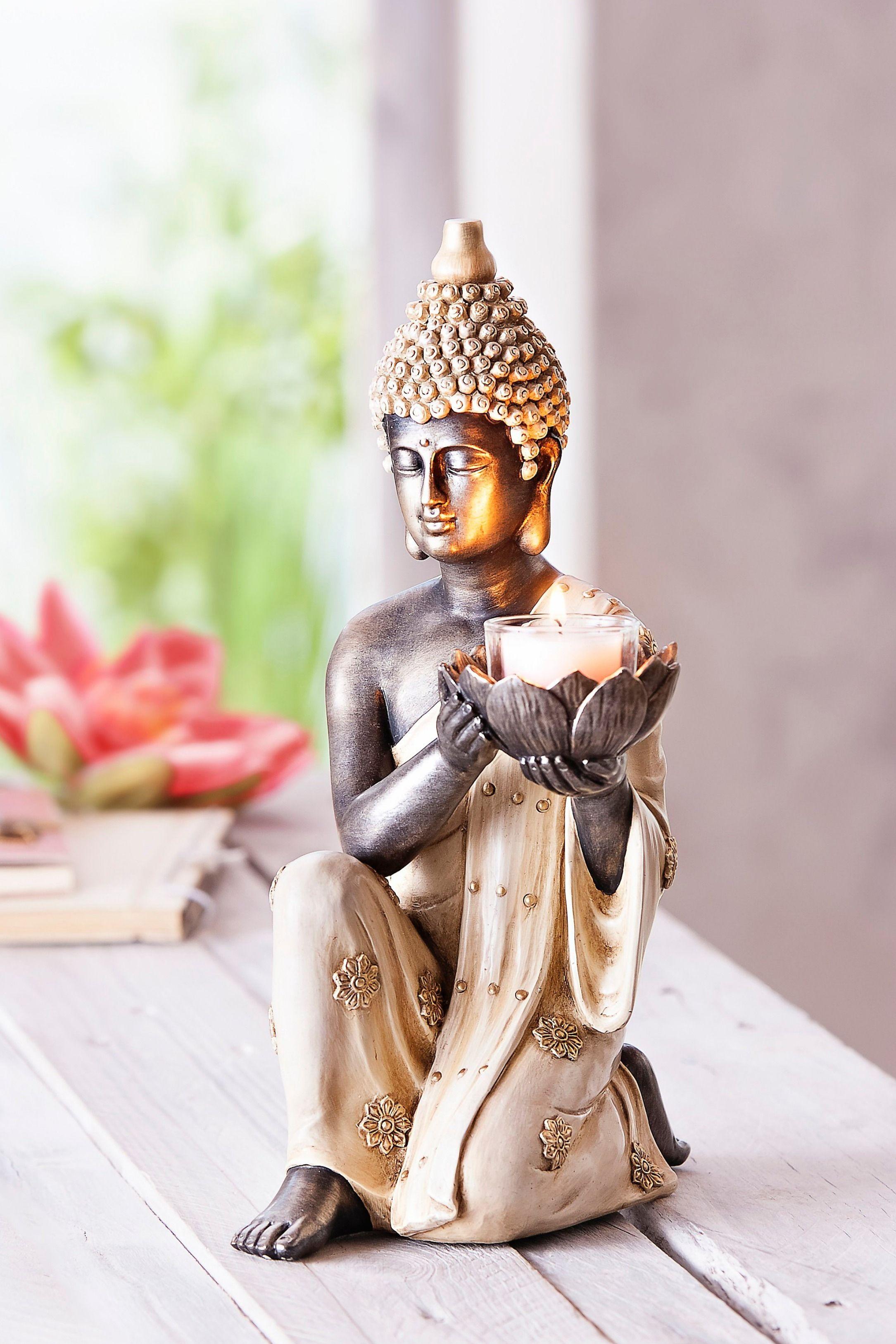 Dekofigur Buddha Mit Teelichthalter Bestellen Weltbild De Buddha Buddha Deko Buddha Figur