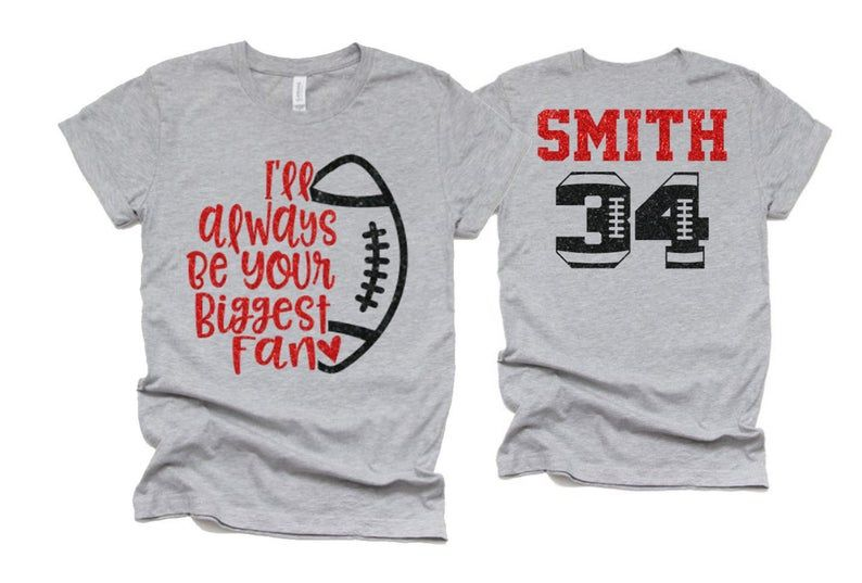 Glitter Football Shirt | Football Mom Shirts | I'l