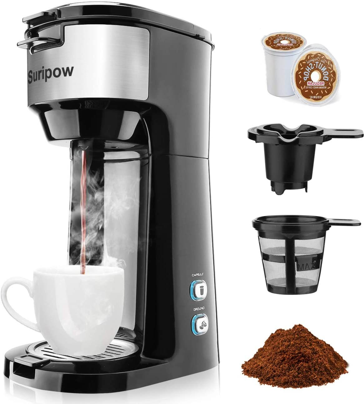 Highlight Features Reviews Single Serve Coffee Maker For K Cup Pod Ground Coffee ในป 2020