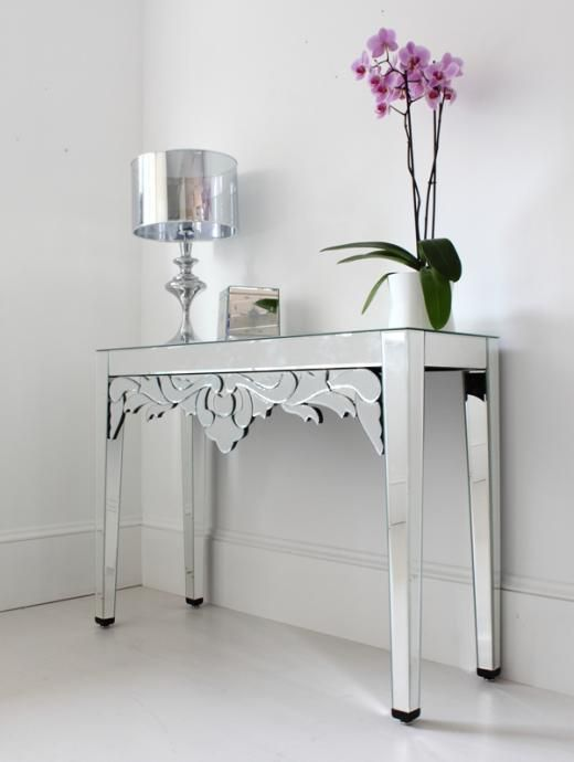 Mirrored console table from Out There Interiors ...