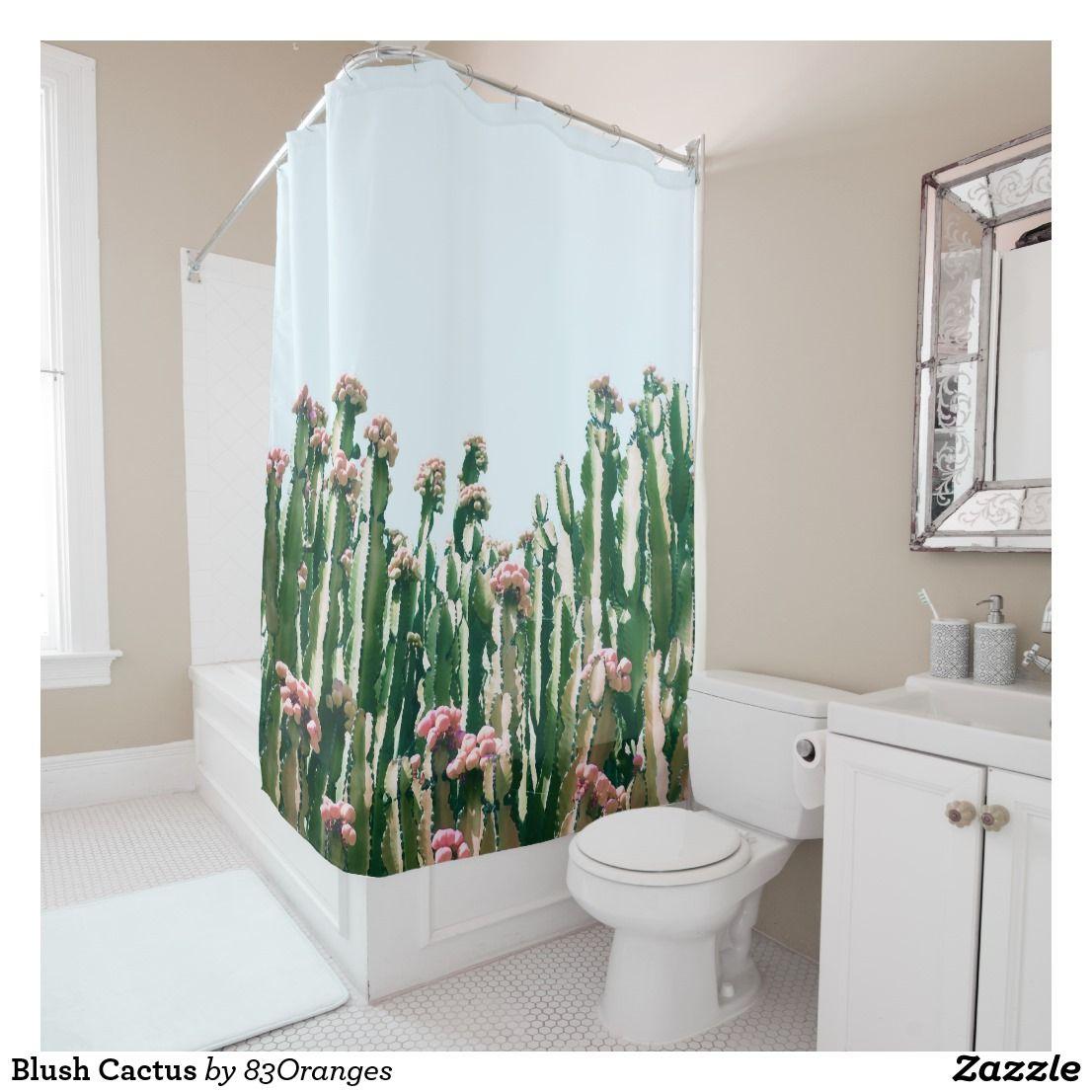 Blush Cactus Shower Curtain   Bath:Shower Curtains   Pinterest ...