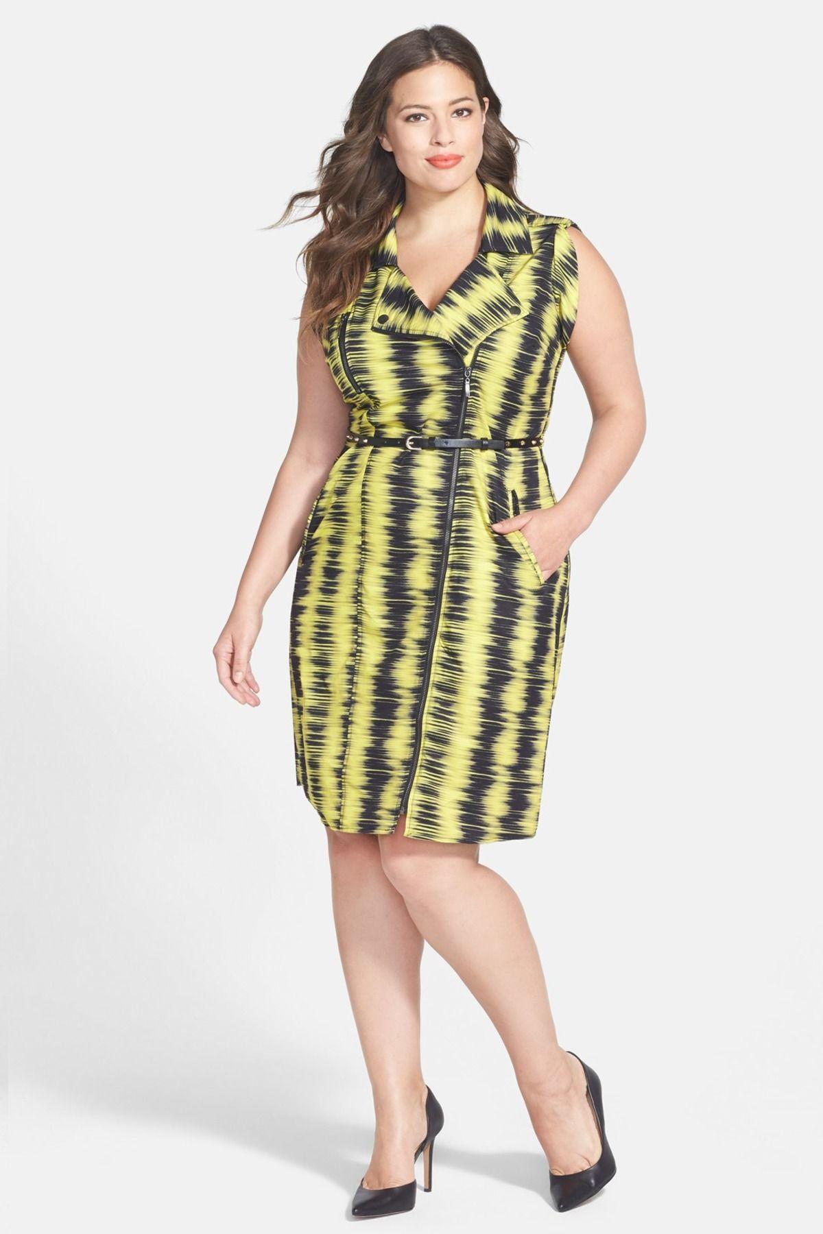 Feel The Beat Zip Front Dress Plus Size Zip Front Dress City