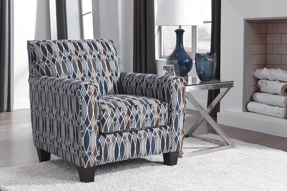 Creeal Heights Ink Accent Chair Furniture Living