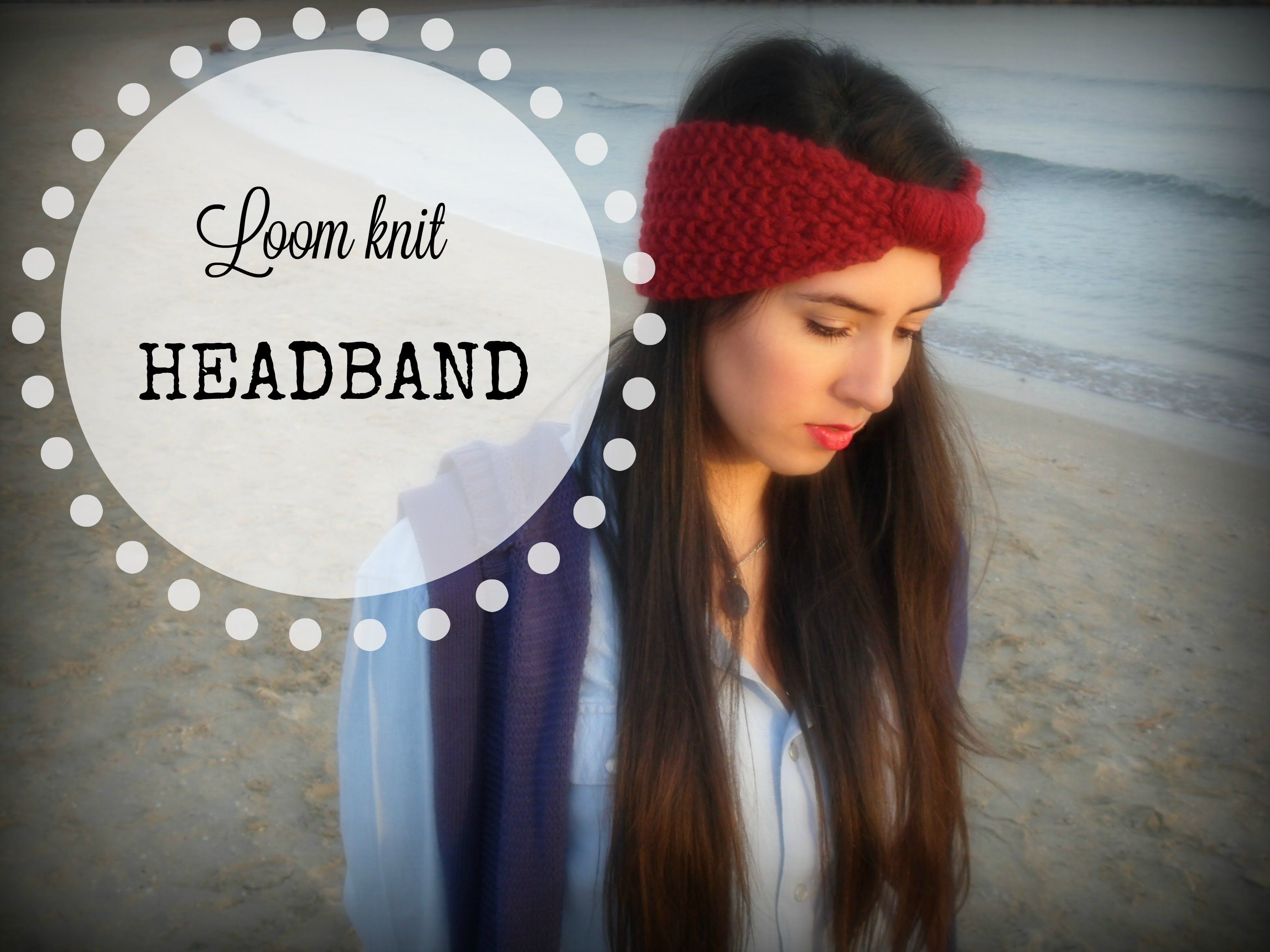 Easy knitted headbandear warmer in seed stitch on round loom easy knitted headbandear warmer in seed stitch on round loom youtube bankloansurffo Images