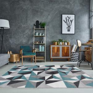 Living Room Area Rugs Grey Geometric Rug