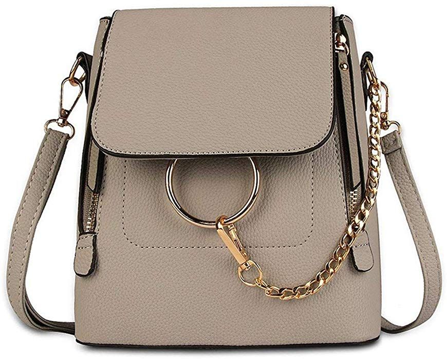 647d7906fa07 Amazon.com: Olyphy Designer Leather Chain Backpack for Women ...