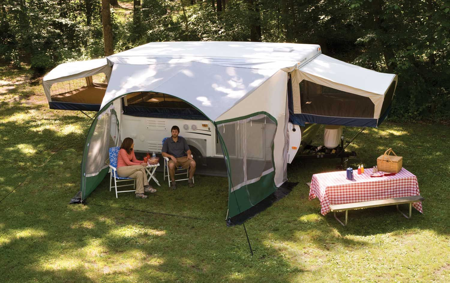 Living In A Pop Up Camper : Dometic Cabana Awning for Pop-ups 9'