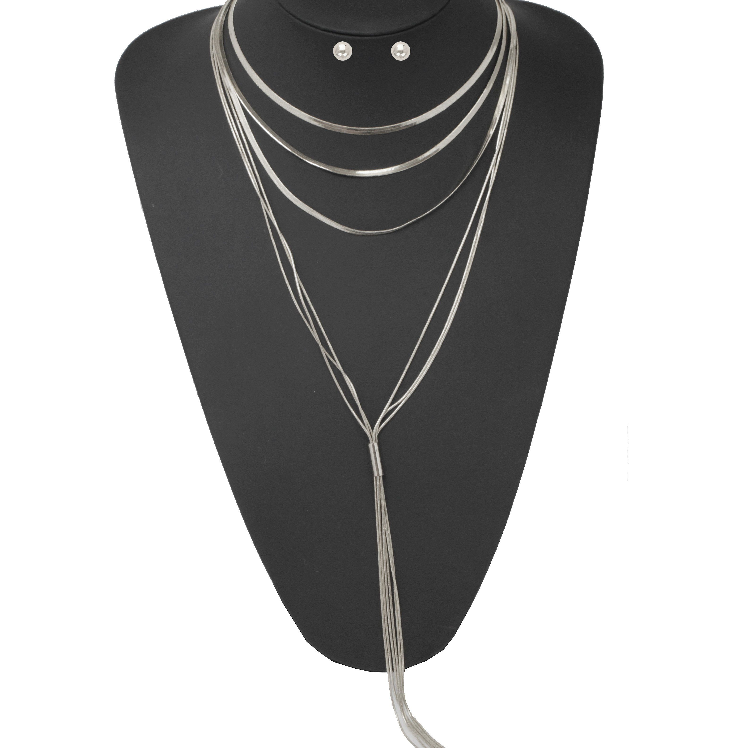 Multi chain lightweight choker necklace set products