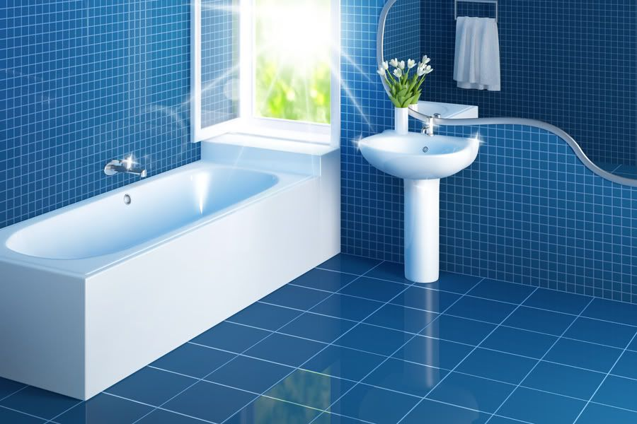 Homemade Cleaning Products Non Toxic Safe Cleaning Formulas To Easily Make Yourself Bystephanielynn Blue Bathroom Tile Tile Bathroom Blue Bathroom Decor