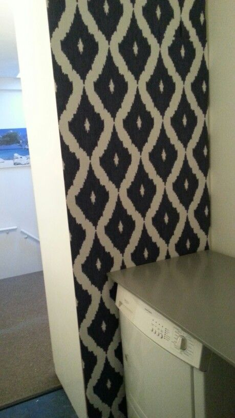 Back of closet with Kelly ikat
