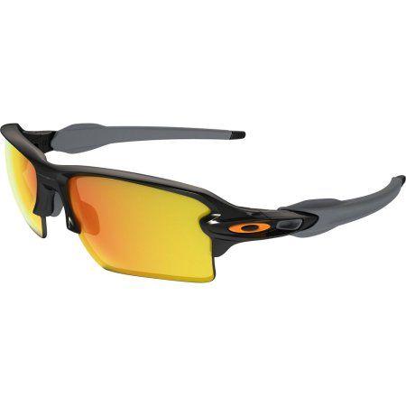 14f1e10a0ad Oakley Flak Jacket 2.0 XL Polished Black  Fire Iridium Mens Sunglasses -  OO9188-918822