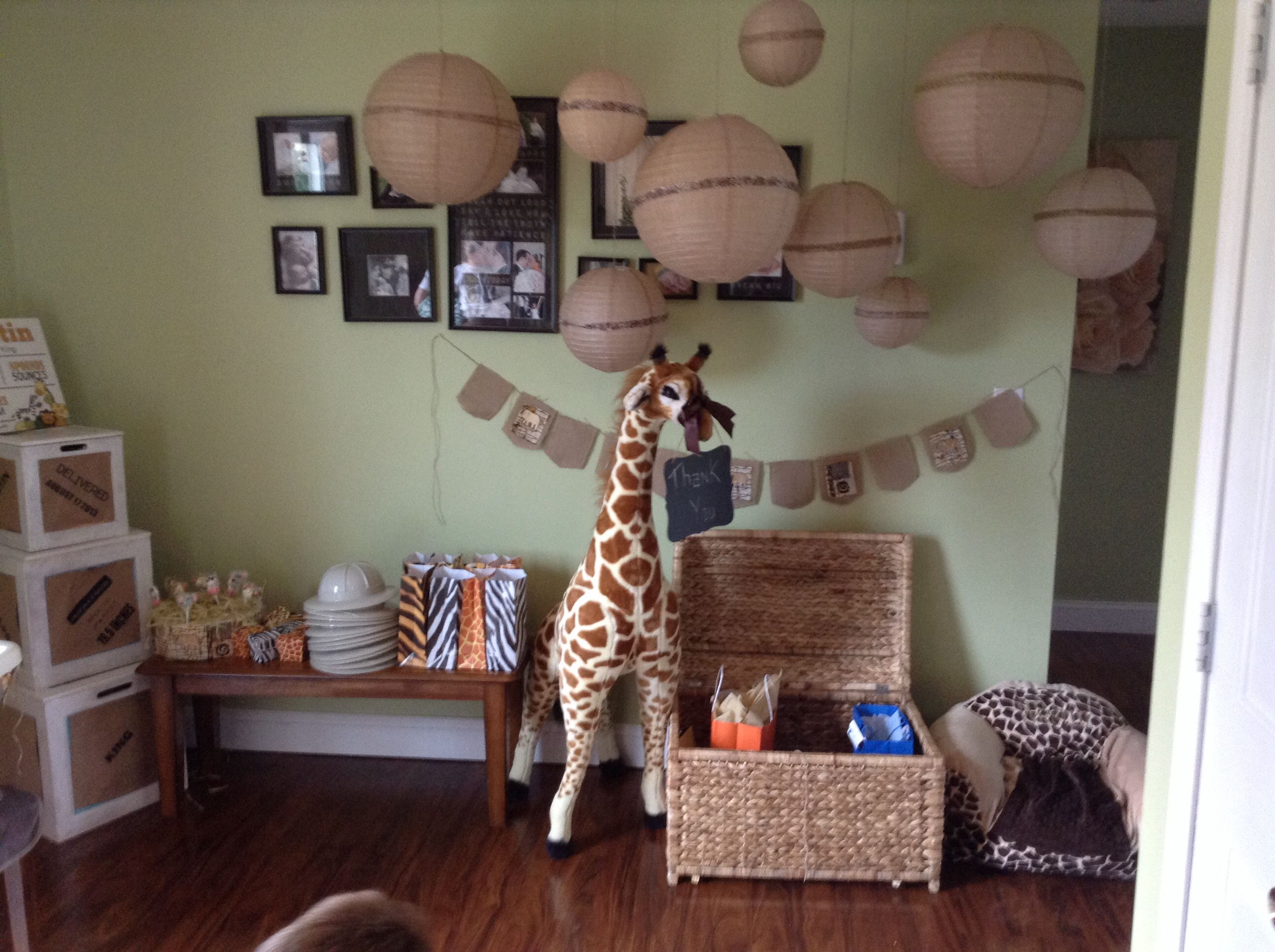 Safari or zoo first birthday party gift \