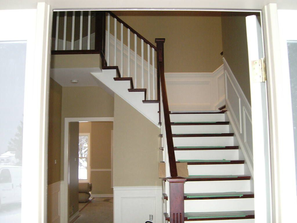 Best We Match To Cabinets Existing Railings Or Hardwood Floors 400 x 300