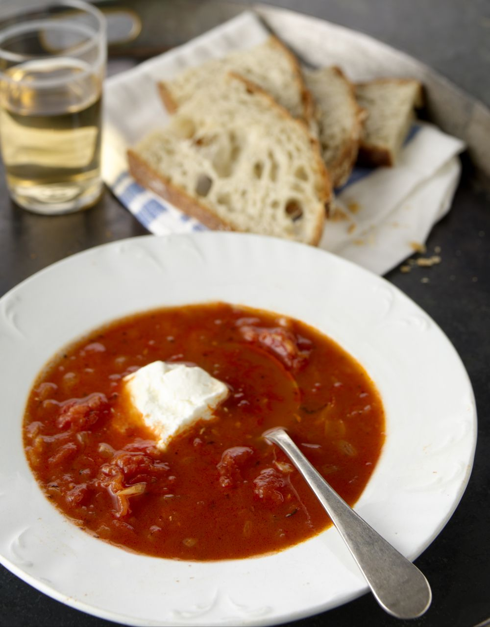 South Of France Tomato Soup With Young Chevre Recipe Pinterest Stew And Nom