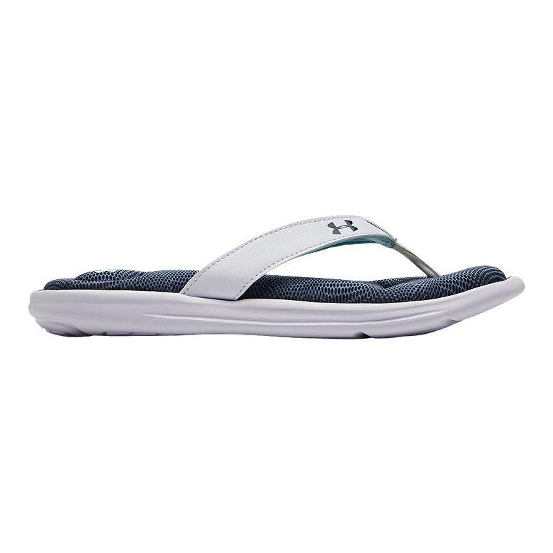 finest selection d4ba9 814cd Under Armour Women s Marbella VI Motion Slide Sandals - Fuse Teal White