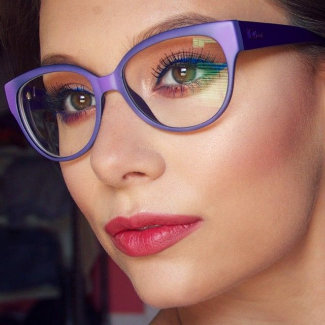 Style ambassador and makeup artist Hayley Kassel from Chicago styling  Dior  glasses. 94d58f2cd3