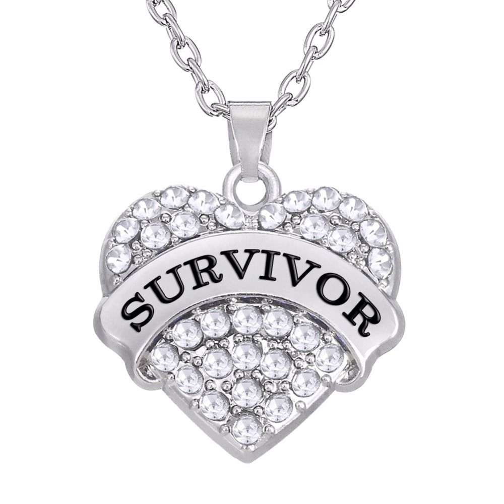 breast cancer necklace co survivor