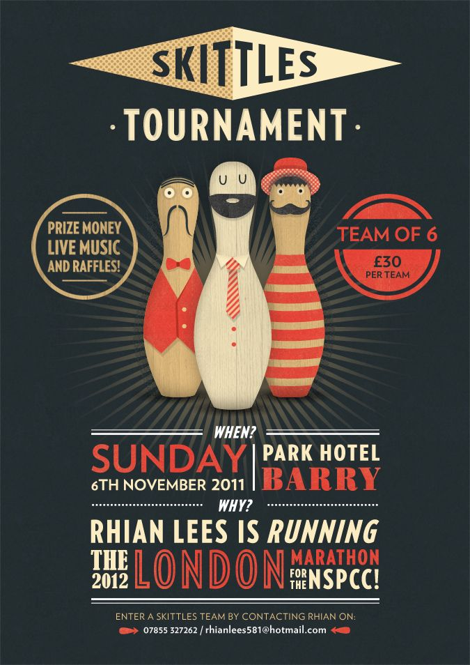 Bowling Tournament Flyer #flyer #poster #graphicdesign Misc - bowling flyer template