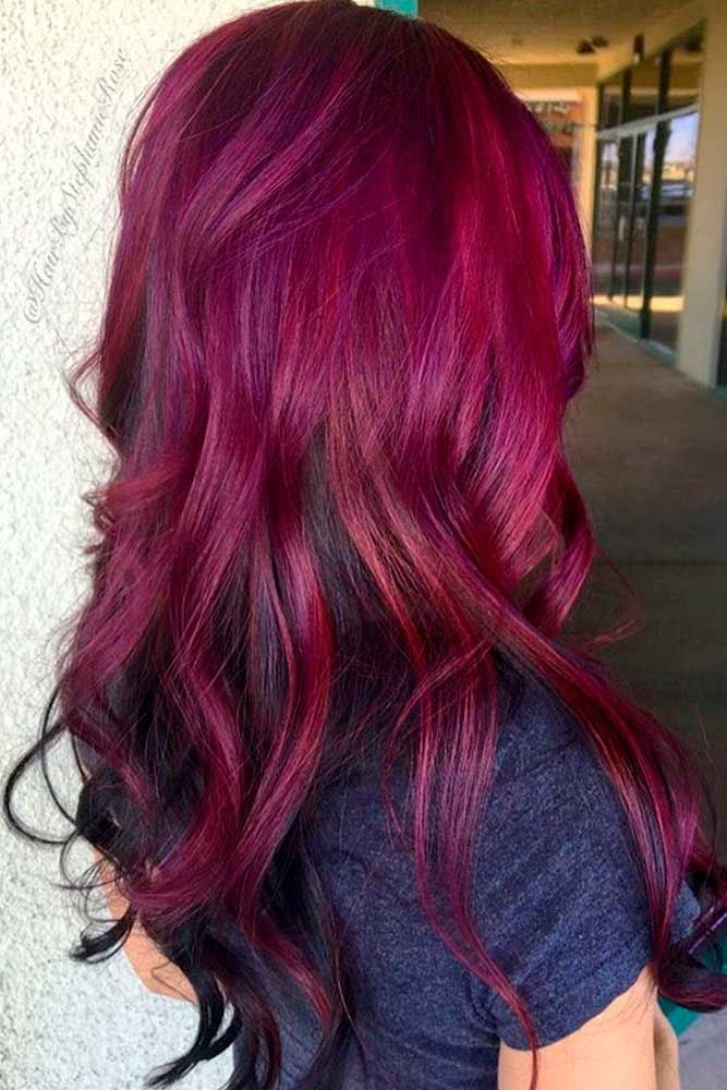 loveliest magenta hair color