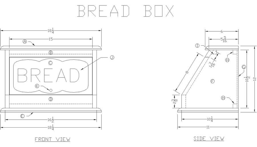 How to Make a Wooden Bread Box at Free Woodworking Plans | Food in 2019 | Wooden bread box ...
