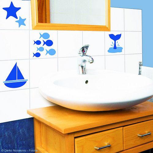Vinilos para azulejos ba o vinilos decorativos pinterest - Azulejos de bano ...
