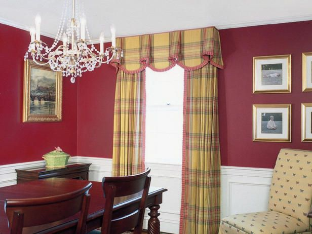 Window Treatments 20 Cornice Styles To Steal Wainscoting Styles Dining Room Simple Dining Room Wainscoting