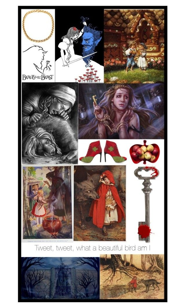 """Dark Fairytales Bookmark for my friend"" by rainicorns ❤ liked on Polyvore featuring art"