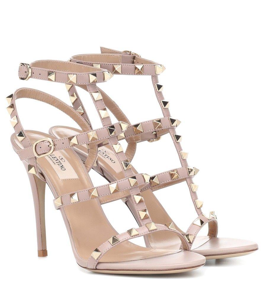2f136bdb1 Valentino - Valentino Garavani Rockstud leather sandals - We love the high  impact of the caged silhouette showcased on Valentino Garavani s Rockstud  leather ...