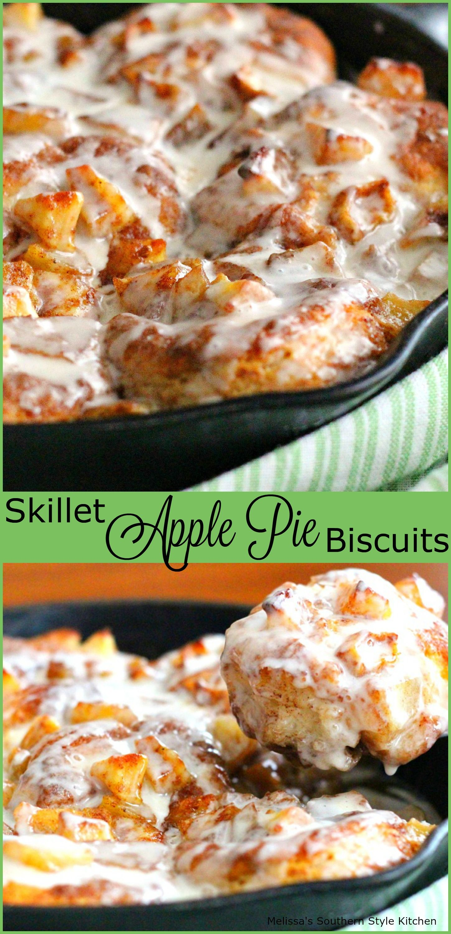 Photo of Skillet Apple Pie Biscuits