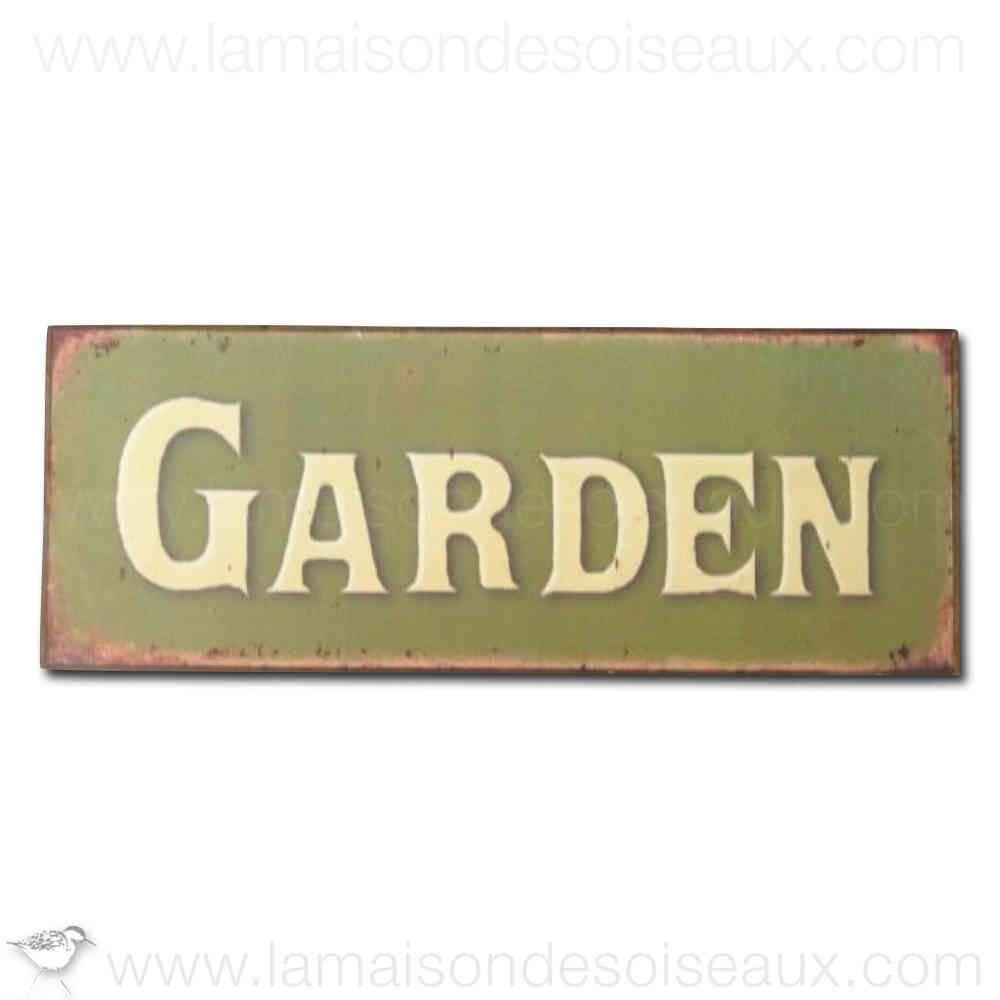 plaque metal decorative garden chehoma garden deco jardin pinterest. Black Bedroom Furniture Sets. Home Design Ideas