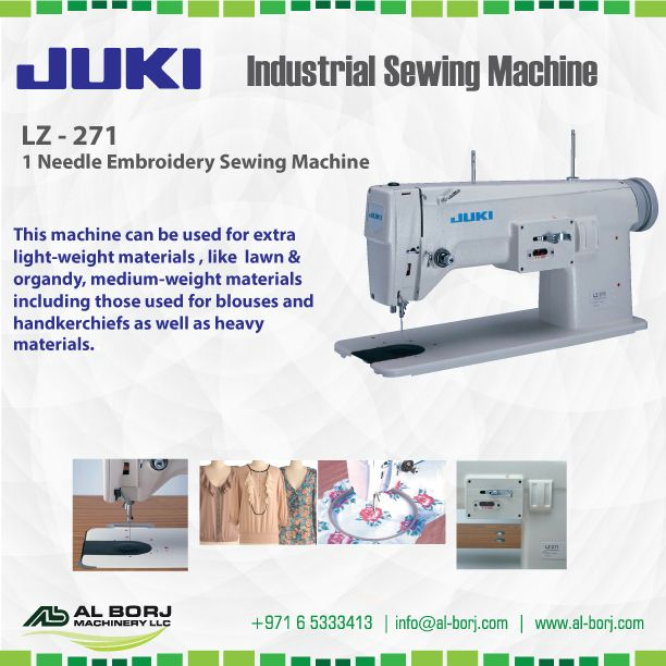 Juki Lz 271 Single Needle Embroidery Machine The Machine Has