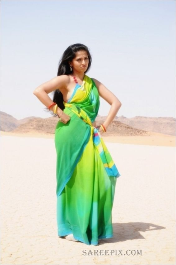 Anushka shetty photos in yellow green saree telugu and saree anushka shetty photos in yellow green saree thecheapjerseys Images