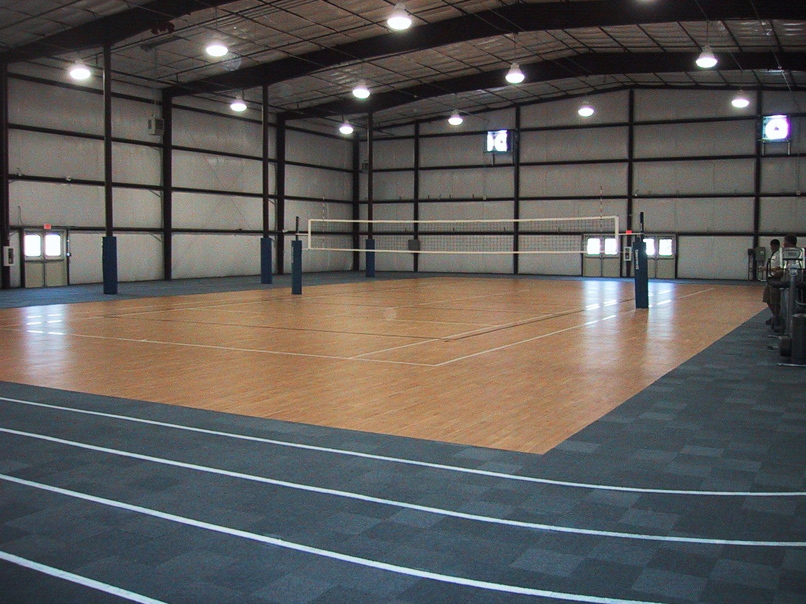Modern sport court cost volleyball design for indoor for How much does a sport court cost