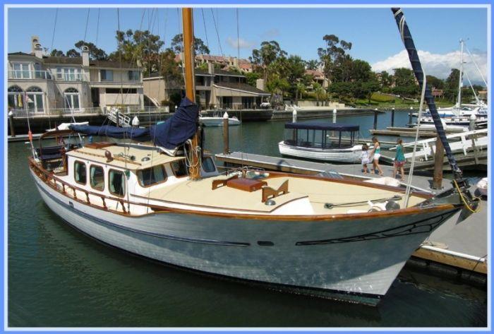 Kettenburg Motorsailer For Sale In Newport Beach California