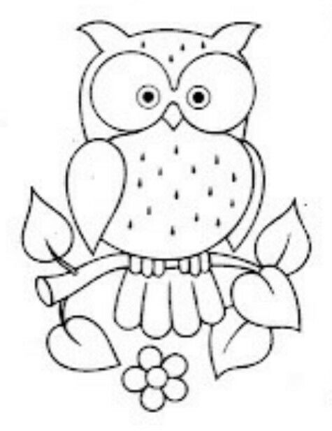 Dibujo colorear búho | templates | Pinterest | Owl, Embroidery and ...
