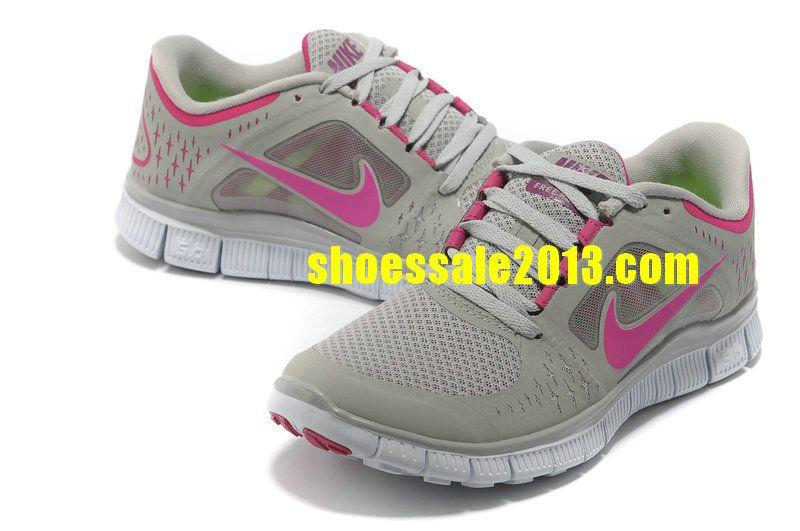 d48912c1dd1 Nike Free Run 3 Womens Size 9 Neutral Grey Think Pink Nike Free Run 2014 Running  Shoes