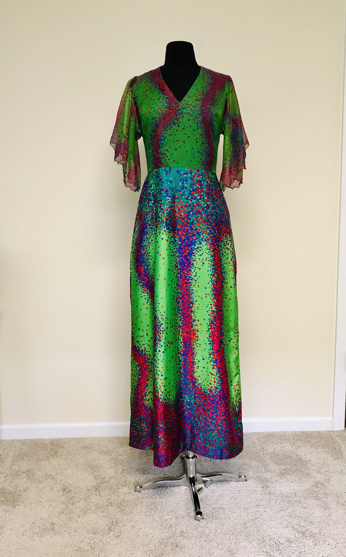 Vintage 1970s Vera Mont Paris Mod Psychedelic Dot Maxi Dress Etsy Maxi Dress Dresses Vera [ 3000 x 1865 Pixel ]