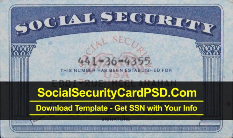 Editable Social Security Card Template Software Social Security Card Cards Card Template