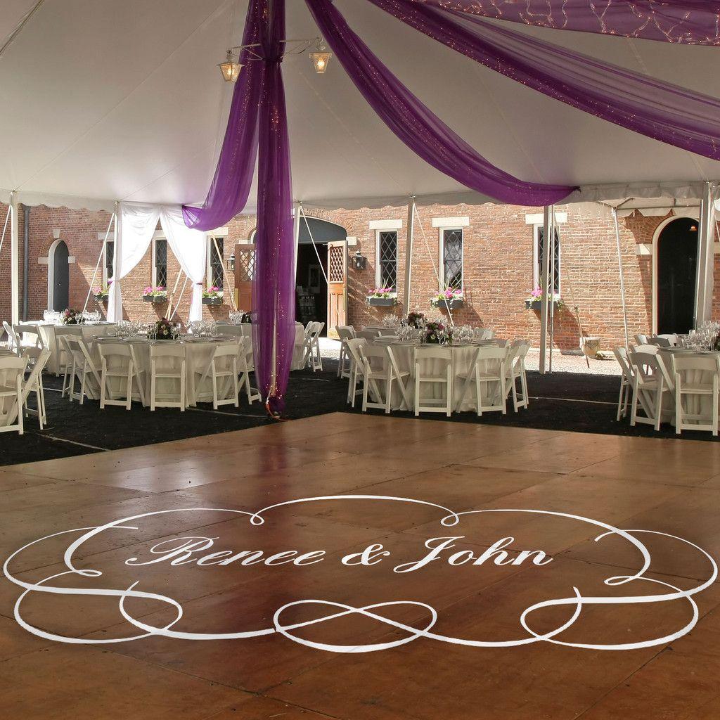 Wedding Venues Near Me Cheap: Dance Floor Monogram Decal